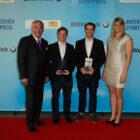 Tim Brendel, Florian Funk mit Dr. Spaenle und Natalie Geisenberger