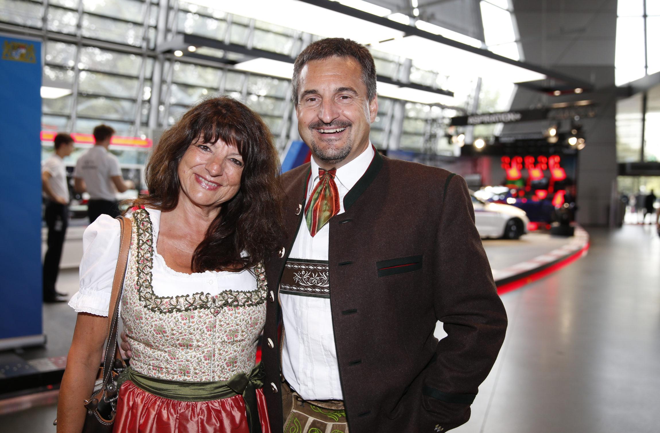 Georg Hackl mit Frau