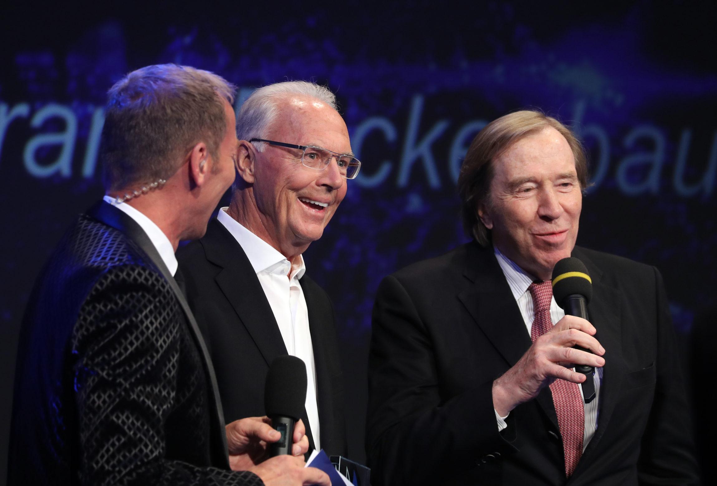 Bühnengespräch Beckenbauer und Netzer