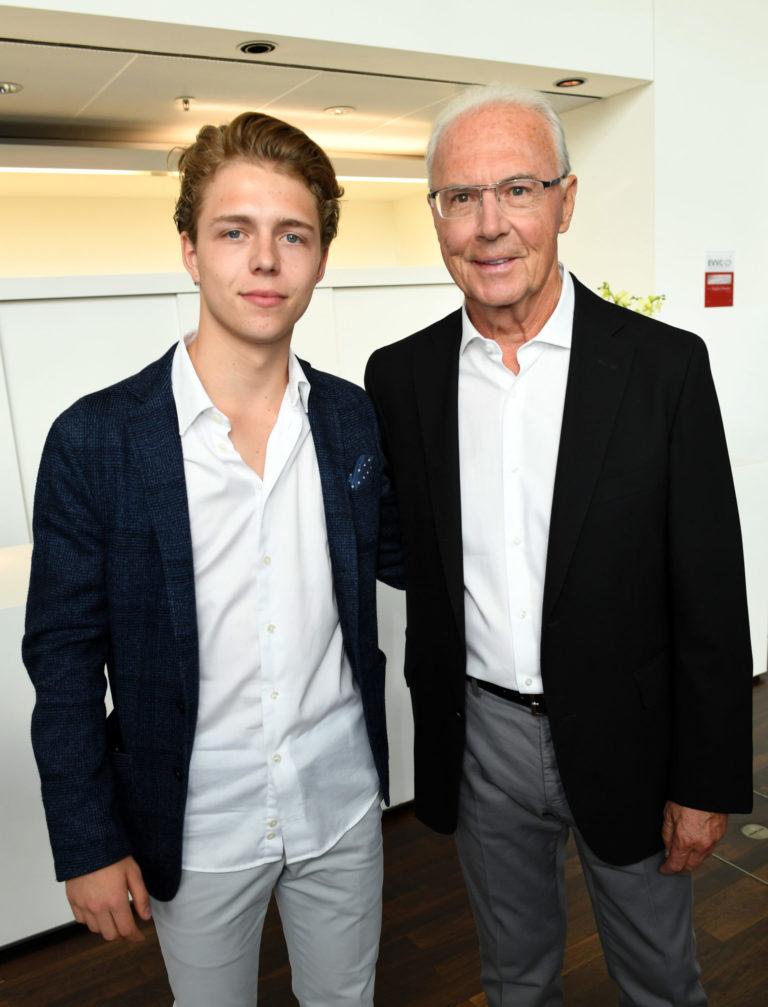 Joel und Franz Beckenbauer