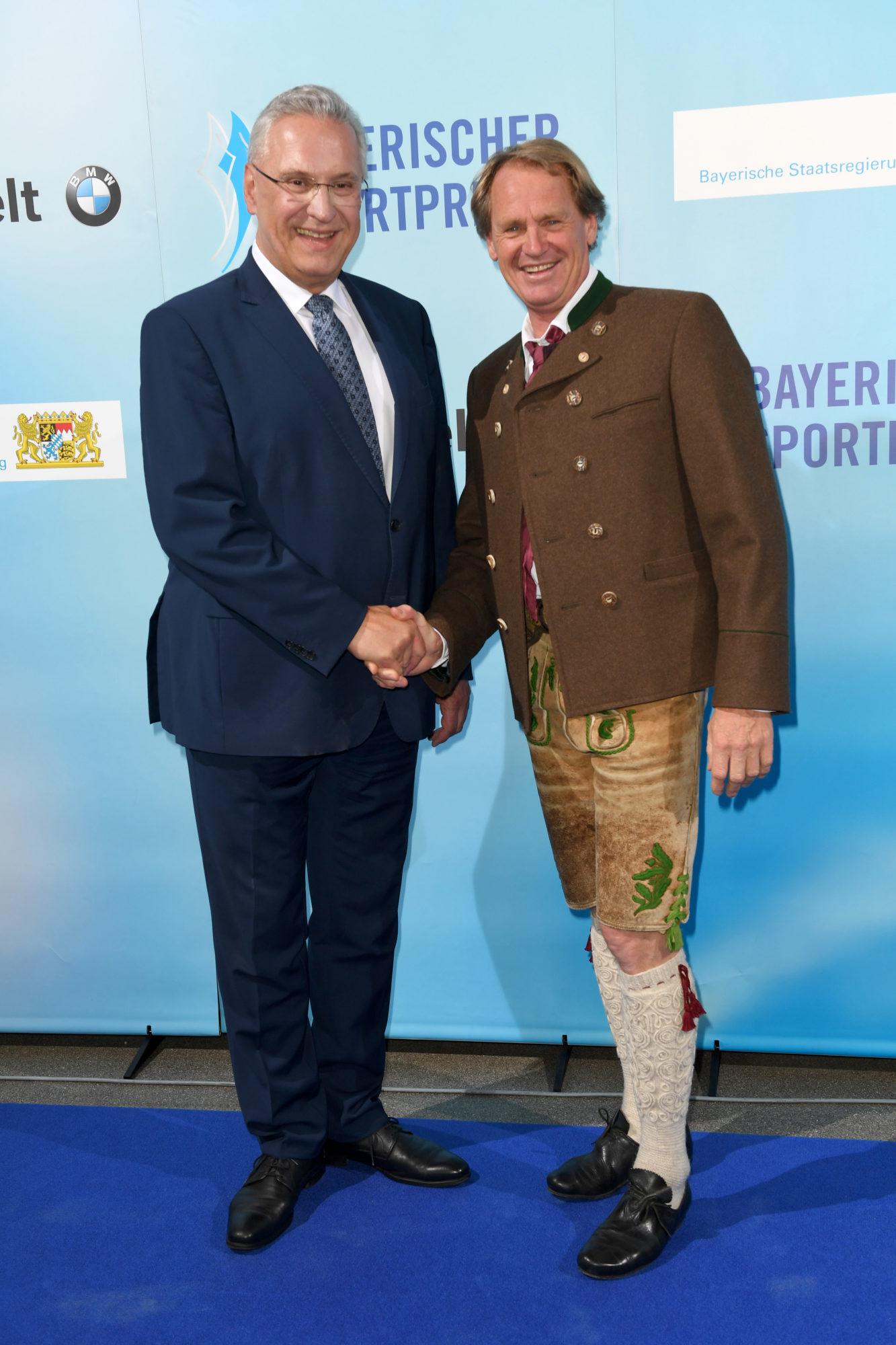 StM Herrmann und Markus Wasmeier