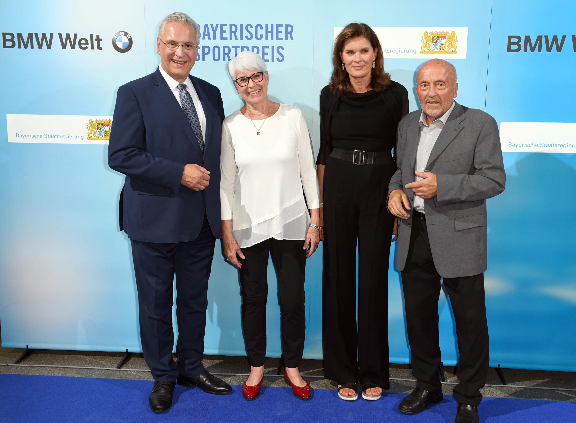StM Herrmann, Ecker-Rosendahl, Nasse-Meyfarth und Wolfermann