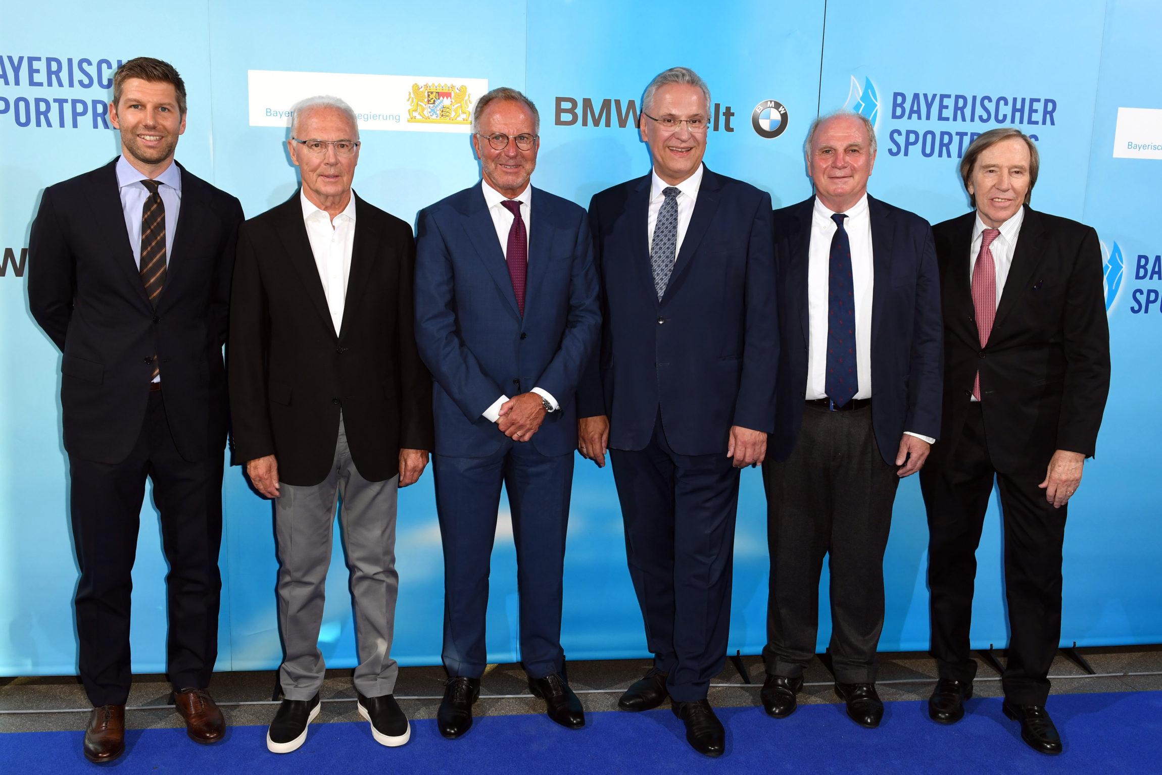 Fußball-Legenden mit StM Herrmann