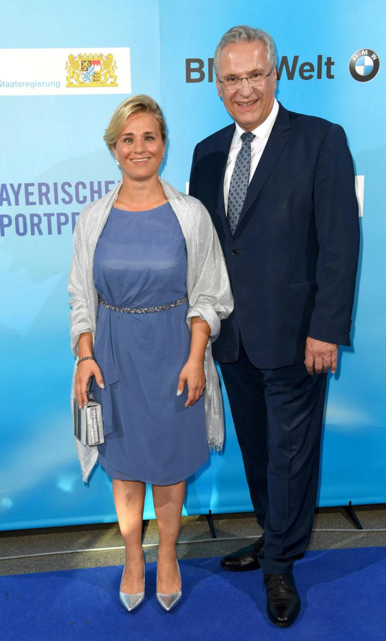 Verena Bentele mit StM Herrmann