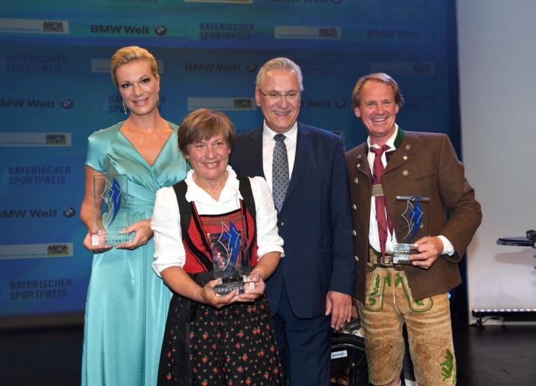Höfl-Riesch, Mittermaier-Neureuther, StM Herrmann und Wasmeier